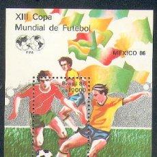 Sellos: BRASIL ** & MÉXICO, XIII CAMPEONATO DO MUNDO 1986 (39). Lote 48829713