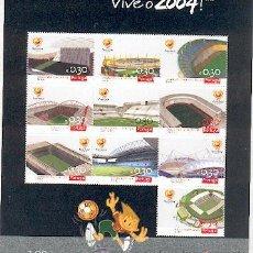 Sellos: PORTUGAL ** & ESTÁDIOS DO EURO 2004 . Lote 49046140