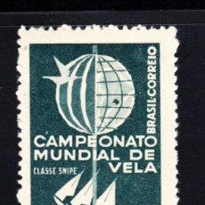 Sellos: BRASIL 684** - AÑO 1959 - CAMPEONATO DEL MUNDO DE VELA - CLASE SNIPE. Lote 195437891