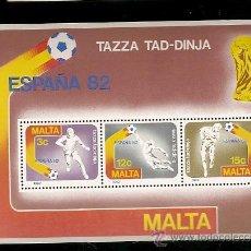Sellos: MALTA ** & CAMPEONATO DO MUNDO DE FUTEBOL, ESPANHA 1982. Lote 49252777