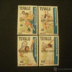 Sellos: TUVALU 1991 IVERT 567/70 *** 9º JUEGOS DEPORTIVOS DEL PACIFICO SUR - DEPORTES - SPECIMEN. Lote 50139270