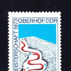 Sellos: ALEMANIA ORIENTAL 1526** - AÑO 1973 - 15º CAMPEONATO DE BOBSLEIGH DE OBERHOF. Lote 50179798