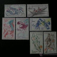 Sellos: CHECOSLOVAQUIA 1961 IVERT 1125/31 * EVENTOS DEPORTIVOS - DEPORTES. Lote 51051295