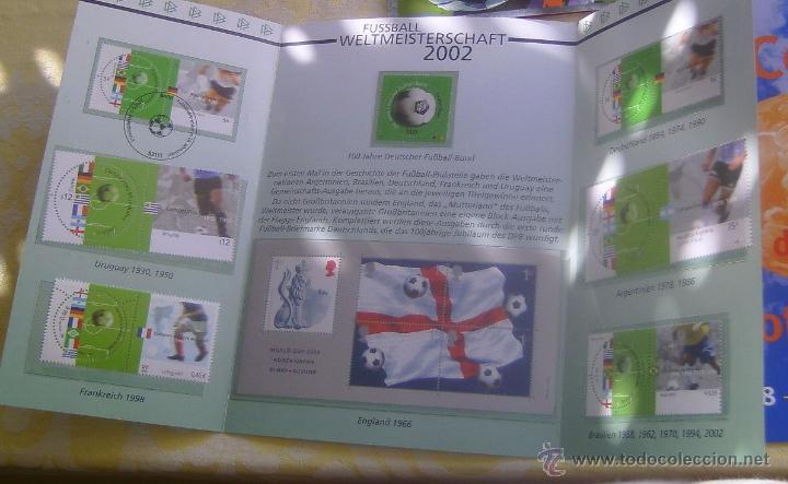 ALEMANIA ESTUCHE PRESENTACION MUNDIAL DE FUTBOL COREA Y JAPON 2002 - SELLOS PAISES CAMPEONES (Sellos - Temáticas - Deportes)