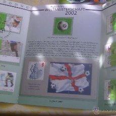 Sellos: ALEMANIA ESTUCHE PRESENTACION MUNDIAL DE FUTBOL COREA Y JAPON 2002 - SELLOS PAISES CAMPEONES. Lote 51149577