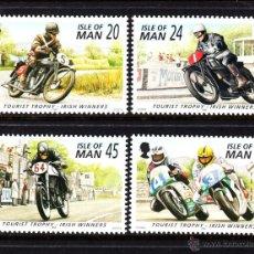 Sellos: MAN 714/17** - AÑO 1996 - MOTORISMO - VENCEDORES IRLANDESES DE LA TOURIST TROPHY. Lote 52169513