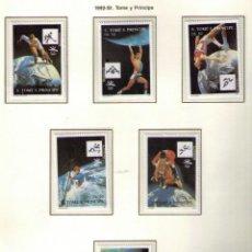 Sellos: SANTO TOME Y PRINCIPE 1992 - OLYMPICS BARCELONA-92 - MICHEL Nº 1317-1322. Lote 191203027
