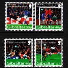 Sellos: GIBRALTAR 2004 IVERT 1088/91 *** CAMPEONATO DE EUROPA DE FUTBOL EN PORTUGAL - DEPORTES. Lote 54500572