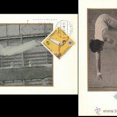 Sellos: EDIFIL 2034/5, CAMPEONATO EUROPEO DE GIMNASIA, TARJETA MAXIMA DE PRIMER DIA 14-5-1971 SERIE COMPLETA. Lote 54563220