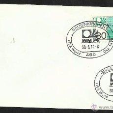 Sellos: ALEMANIA 1974 SOBRE PRIMER DIA CIRCULACION COPA MUNDIAL DE FUTBOL ALEMANIA 74- GELSENKIRCHEN- FDC . Lote 54947216