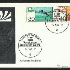 Sellos: ALEMANIA 1974 SOBRE PRIMER DIA CIRCULACION COPA MUNDIAL DE FUTBOL ALEMANIA 74- FRANKFURT- FDC . Lote 54947256