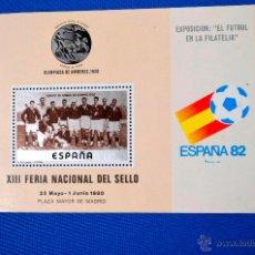 Timbres: ESPAÑA 82 - MUNDIAL DE FUTBOL - XIII FERIA NACIONAL SELLO 1980 - NUEVO. Lote 55023817