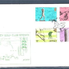 Sellos: JERSEY S.P.D. Nº 167/70 SERIE COMPLETA. GOLF. Lote 55123390