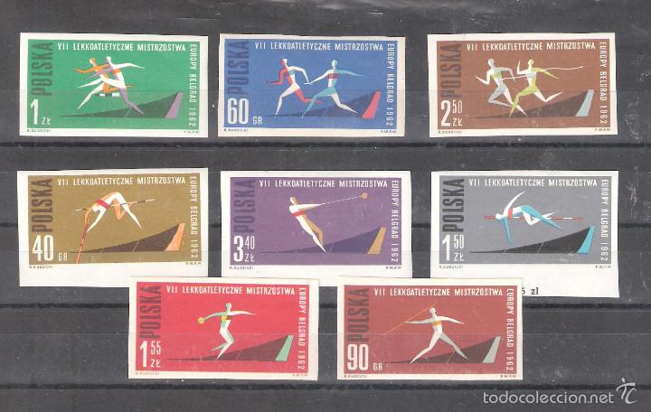 Sellos: POLONIA 1198/1205** s/d. Atletismo. Serie completa - Foto 1 - 55709085