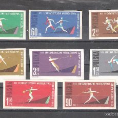 Sellos: POLONIA 1198/1205** S/D. ATLETISMO. SERIE COMPLETA. Lote 55709085