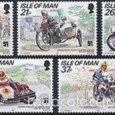 Sellos: ISLA DE MAN 1991 IVERT 502/6 *** 80º ANIVERSARIO CARRERA MOTOCICLISTA TOURIST TROPHY MOUNTAIN. Lote 57544057