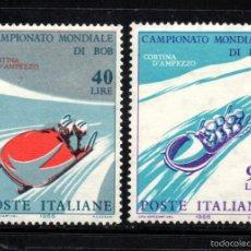 Sellos: ITALIA 938/39** - AÑO 1966 - CAMPEONATO DEL MUNDO DE BOBSLEIGH. Lote 57942275