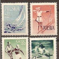 Sellos: POLONIA 1959 - DEPORTES - SPORTS - YVERT Nº 952-955**. Lote 60762023