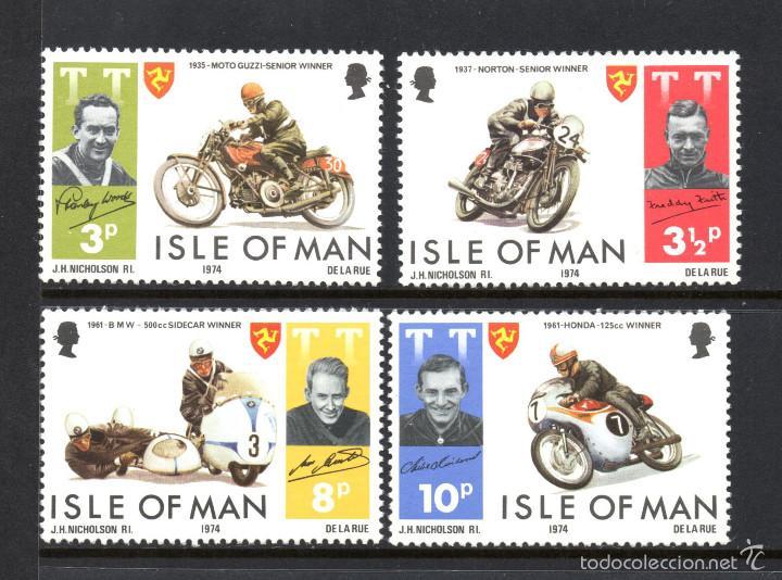 MAN 29/32** - AÑO 1974 - MOTORISMO - GANADORES DE LA TOURIST TROUPHY (Sellos - Temáticas - Deportes)