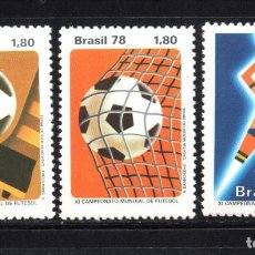 Sellos: BRASIL 1302/04** - AÑO 1978 - CAMPEONATO DEL MUNDO DE FUTBOL, 78. Lote 207147486