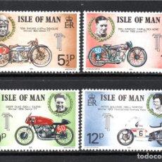 Sellos: MAN 51/54** - AÑO 1975 - MOTOCICLISMO - VENCEDORES DE LA TOURIST TROUPHY. Lote 63280592