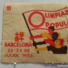 Sellos: SELLO OLIMPIADAS POPULARES BARCLONA 1936. Lote 69083405
