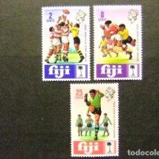 Sellos: FIJI FIDJI 1973 RUGBY YVERT Nº 310 / 12 ** MNH. Lote 72459123