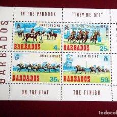 Sellos: BARBADOS. HB 1 CARRERAS HÍPICAS. CABALLOS. 1969. SELLOS NUEVOS Y NUMERACIÓN YVERT. Lote 73726507