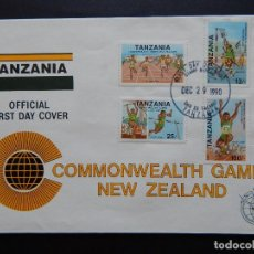 Sellos: SOBRE - TANZANIA OFFICIAL FIRST DAY COVER. COMMONWEALTH GAMES NEW ZEALAND - 1990. Lote 80581986