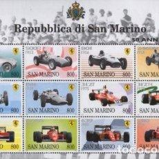 Sellos: SAN MARINO 1998 IVERT 1549/60 *** 50 AÑOS DEL AUTOMOVIL - FERRARI EN EL MUNDO DE CARRERAS - COCHES. Lote 81645020