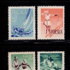 Timbres: POLONIA 952/55** - AÑO 1959 - VELA - TIRO CON ARCO - FÚTBOL - EQUITACIÓN. Lote 197967862