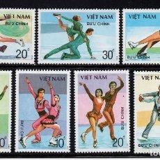 Sellos: VIETNAM 883/89** - AÑO 1988 - DEPORTES DE INVIERNO - PATINAJE ARTISTICO. Lote 87692608