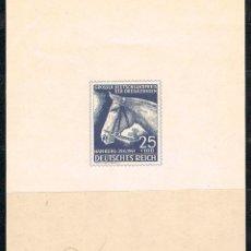 Sellos: ALEMANIA REICH, HIPICA, DERBY DE HAMBURGO 1941, MUESTRA. Lote 88159424