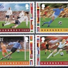 Sellos: GUERNESEY 1996 IVERT 703/10 *** CAMPEONATO DE EUROPA DE FUTBOL - DEPORTES. Lote 88971800