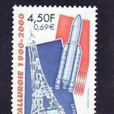 Timbres: FRANCIA 2000 IVERT 3366 *** METALURGIA 1900-2000 - TORRE EIFFEL. Lote 88993272