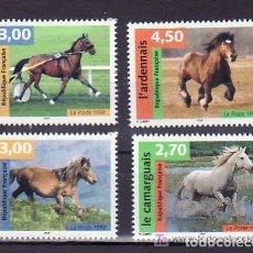 Sellos: FRANCIA 1998 IVERT 3182/5 *** NATURALEZA DE FRANCIA (XIII) - FAUNA - CABALLOS DE RAZA. Lote 89087896