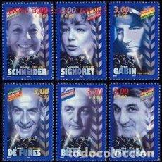 Sellos: FRANCIA 1998 IVERT 3187/92 *** PERSONAJES CÉLEBRES - ACTORES DEL CINE FRANCES. Lote 89088172