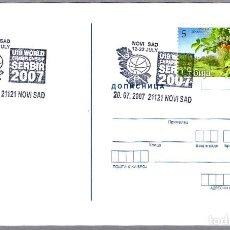 Sellos: MATASELLOS BALONCESTO - CAMPEONATO DEL MUNDO SUB 19 SERBIA. NOVI SAB, SERBIA, 2007. Lote 89330264