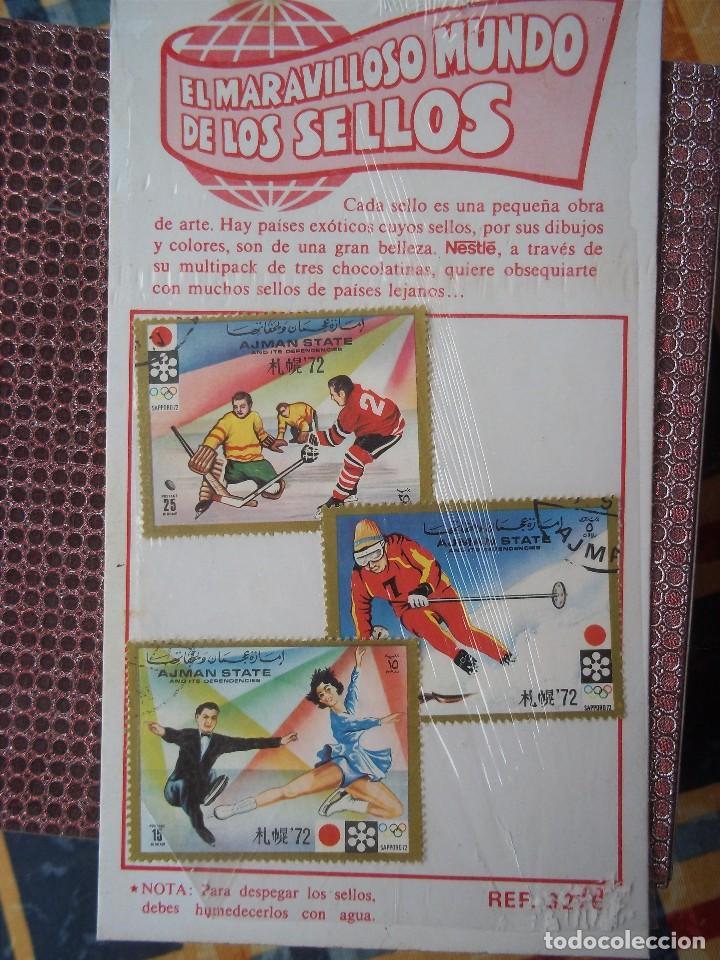 BLOQUE NESTLE AJMAN STATE 1972 JUEGOS OLIMPICOS JAPON (Sellos - Temáticas - Deportes)