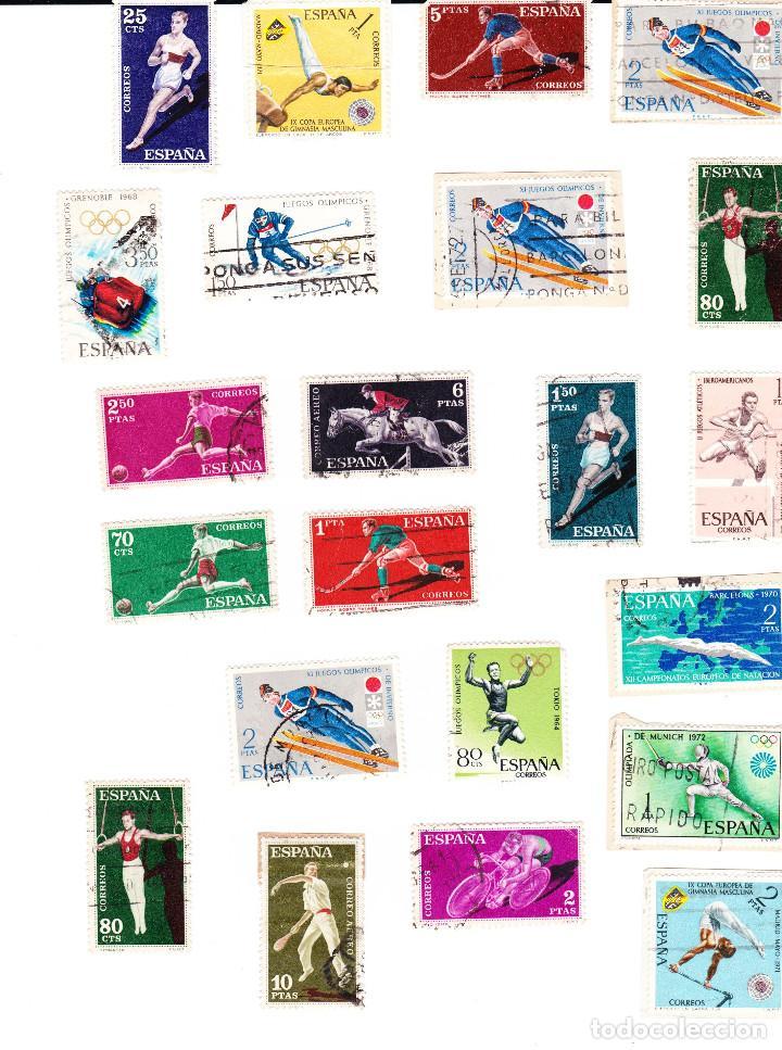 Sellos: PRIMER CONGRESO INTERNACIONAL DE FILATELIA DE BARCELONA 1960 + 20 SELLOS DEPORTIVOS TIMBRADOS - Foto 2 - 91573670