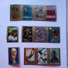 Sellos: PARAGUAY 16 SELLOS MUNDIALES FUTBOL CUP FOOTBALL 1977. Lote 93869975