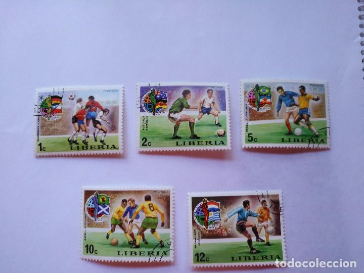 Sellos: LIBERIA 7 SELLOS MUNDIALES FUTBOL CUP FOOTBALL 1974 - Foto 2 - 93870765