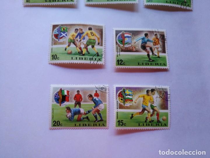 Sellos: LIBERIA 7 SELLOS MUNDIALES FUTBOL CUP FOOTBALL 1974 - Foto 3 - 93870765