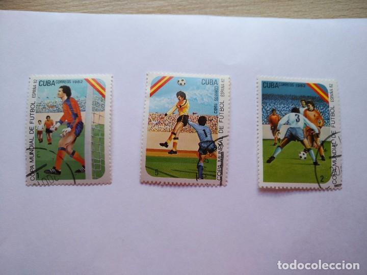 Sellos: CUBA -LOTE 7 SELLOS MUNDIALES DE FUTBOL ESPAÑA 1982 - Foto 2 - 93952985