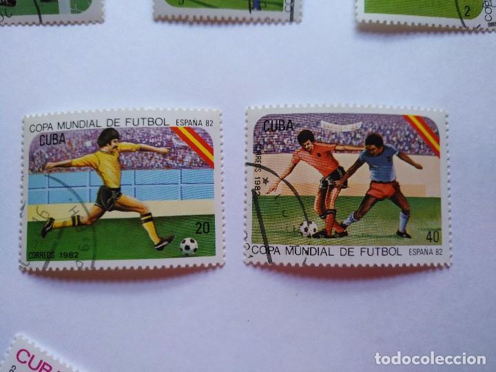 Sellos: CUBA -LOTE 7 SELLOS MUNDIALES DE FUTBOL ESPAÑA 1982 - Foto 3 - 93952985