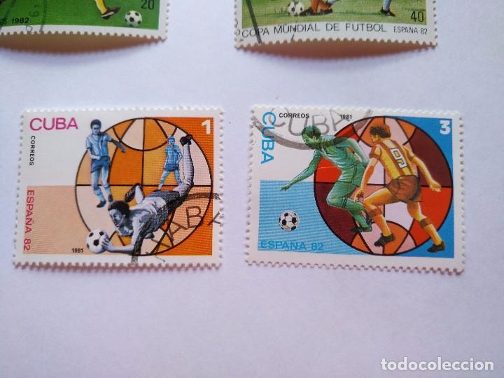 Sellos: CUBA -LOTE 7 SELLOS MUNDIALES DE FUTBOL ESPAÑA 1982 - Foto 4 - 93952985