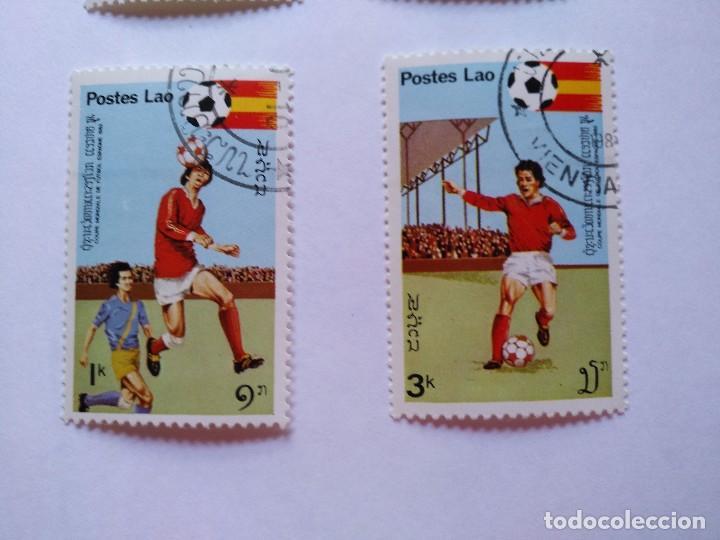 Sellos: LAOS -LOTE 5 SELLOS MUNDIALES DE FUTBOL ESPAÑA 1982 - Foto 4 - 93954095