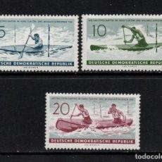 Sellos: ALEMANIA ORIENTAL 551/53** - AÑO 1961 - CAMPEONATO DEL MUNDO DE PIRAGÜISMO. Lote 94293198