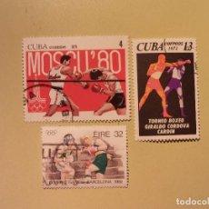 Sellos: BOXEO - MOSCU 80 - BARCELONA 92. Lote 94806199