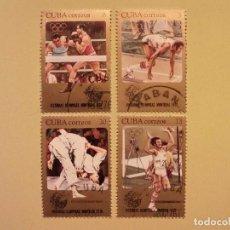 Sellos: CUBA 1976 - VICTORIAS OLIMPICAS MONTREAL 1976 - BOXEO, LUCHA, SALTO Y ATLETISMO. Lote 94806487